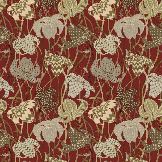 Обои Sirpi Missoni 3 10232 вышивка с цветами красная