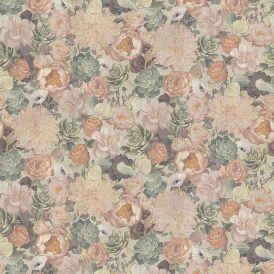 Шпалери Grandeco Dasha 159810 квіти персикові
