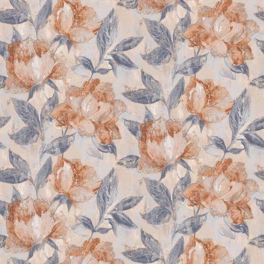Обои Grandeco AVA 171402 цветы живопись персиковые метровые