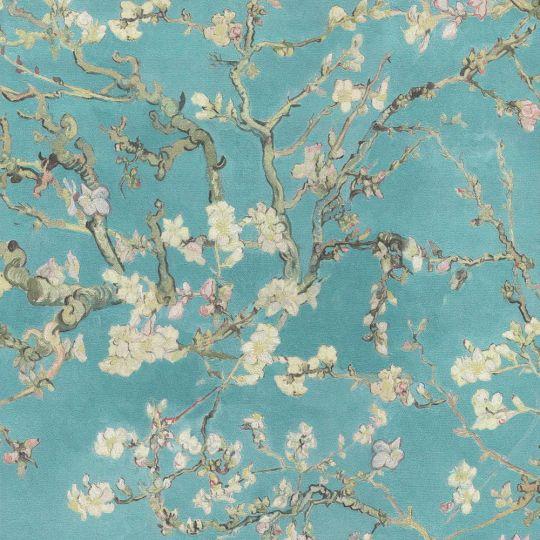Обои BN International Van Gogh 17140BN цветущий миндаль голубой