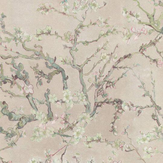 Шпалери BN International Van Gogh 17141BN квітучий мигдаль рожевий