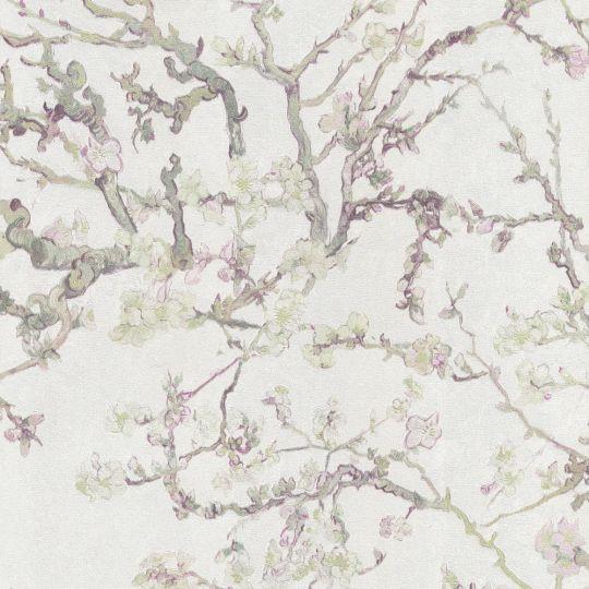 Шпалери BN International Van Gogh 17142BN квітучий мигдаль білий