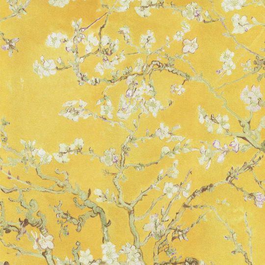 Шпалери BN International Van Gogh 17143BN квітучий мигдаль жовтий