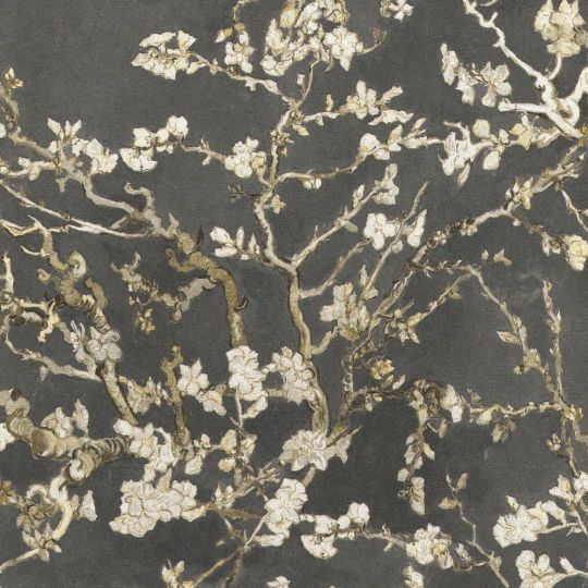 Шпалери BN International Van Gogh 17145BN квітучий мигдаль чорний