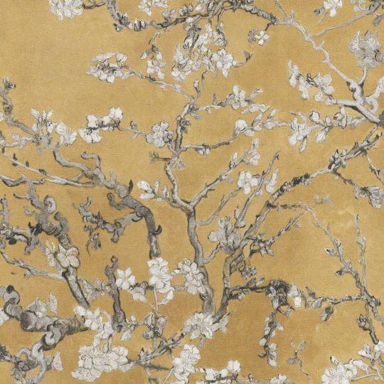 Обои BN International Van Gogh 17146BN цветущий миндаль горчичный