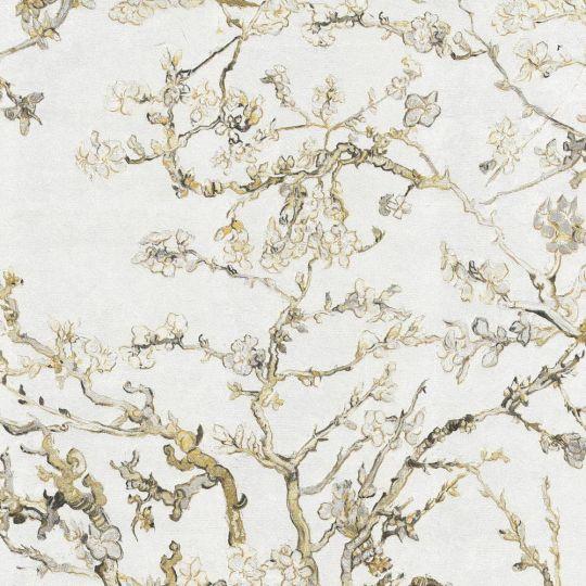 Обои BN International Van Gogh 17148BN цветущий миндаль белый