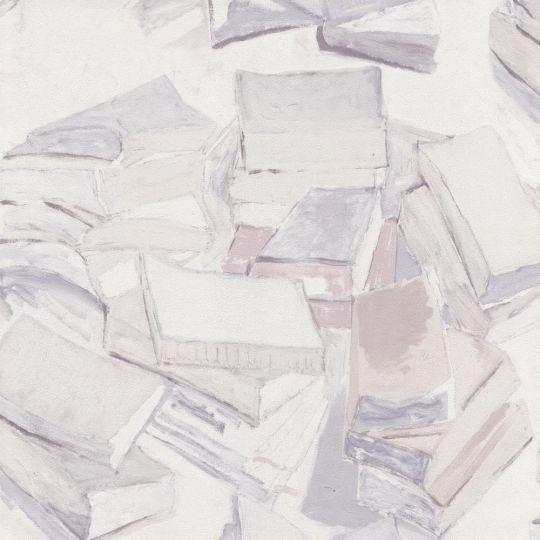 Шпалери BN International Van Gogh 17191 книги біло-сірі