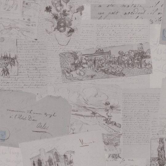 Шпалери BN International Van Gogh 17202 листи темно-сірі
