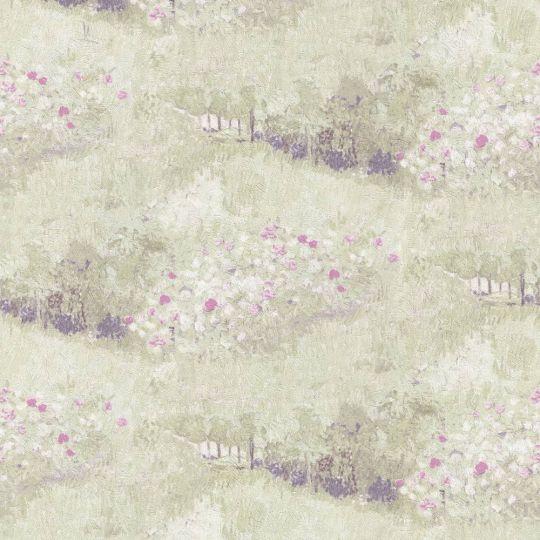 Шпалери BN International Van Gogh 17211 квітучий сад салатові
