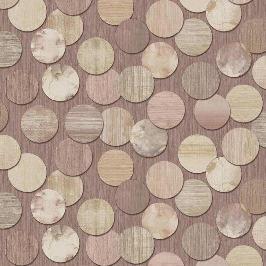 Обои Grandeco ATB 174705 Bubbles круги коричневые метровые