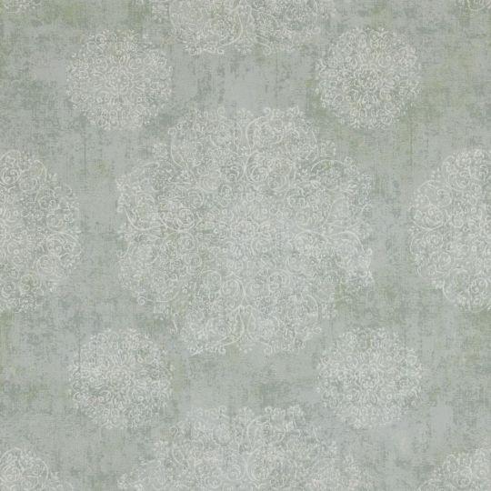 Шпалери BN International Indian Summer 218550 орнамент сіро-зелений