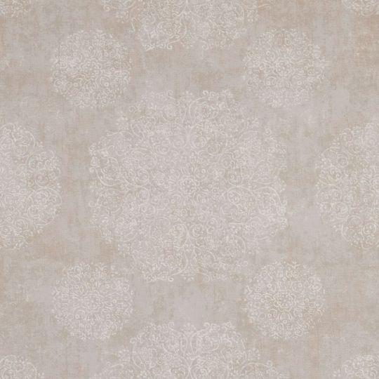 Шпалери BN International Indian Summer 218551 орнамент сіро-бежевий