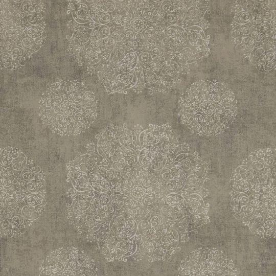 Шпалери BN International Indian Summer 218554 орнамент сіро-зелений
