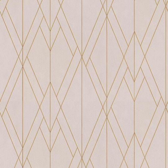 Обои BN International Finesse 219713 геометрия бледно-розовые