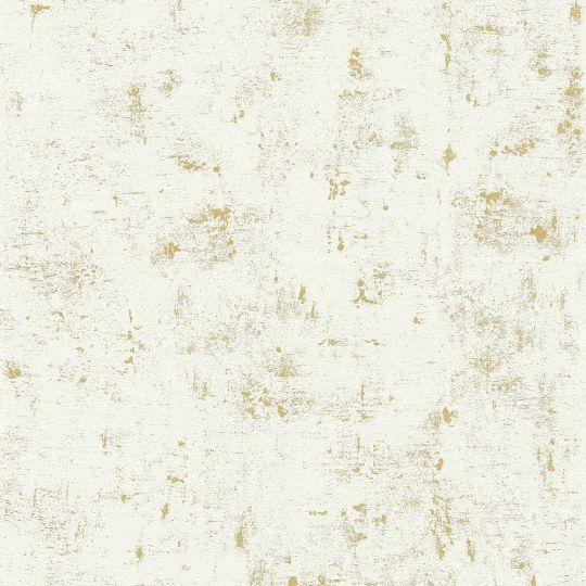 Шпалери AS Creation Trendwall 2307-75 під декоративну штукатурку білі з золотом