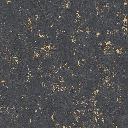 Шпалери AS Creation Trendwall 2307-82 під декоративну штукатурку чорні з золотом