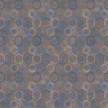 Шпалери Sirpi AltaGamma Life 23735 стільники сині