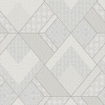 Шпалери Sirpi AltaGamma Kilt 24221 геометричний візерунок біло-сірий
