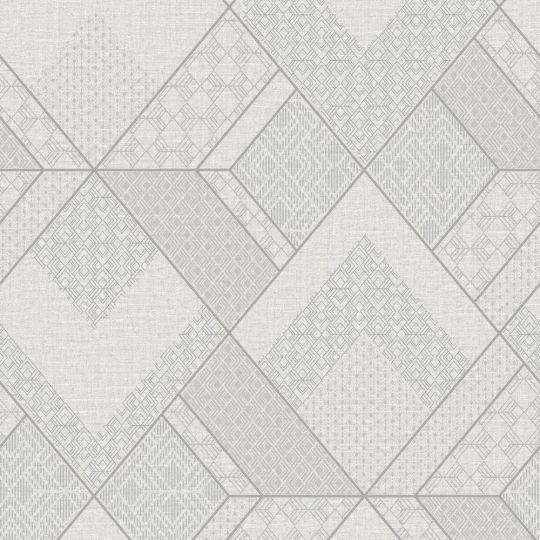 Обои Sirpi AltaGamma Kilt 24221 геометрический узор бело-серый