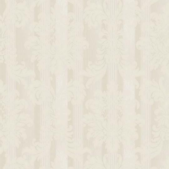 Велюрові шпалери Sirpi Italian Velour 25030 класичний візерунок на смузі перламутр