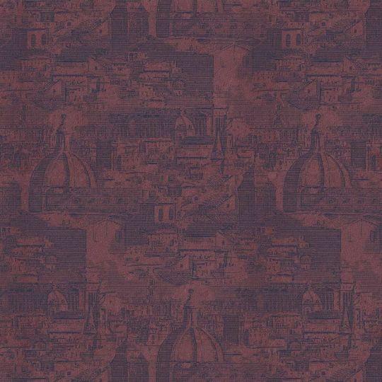 Велюрові шпалери Sirpi Italian Velour 25057 Рим бордовий