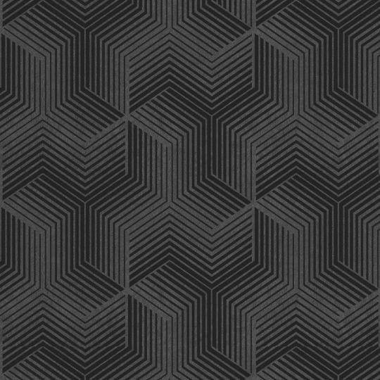 Велюрові шпалери Sirpi Italian Velour 25069 графіка чорна