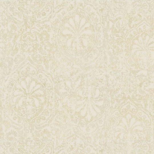 Велюрові шпалери Sirpi Italian Velour 25082 східний візерунок світло-жовтий