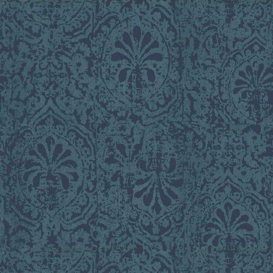 Велюровые обои Sirpi Italian Velour 25088 восточный узор синий