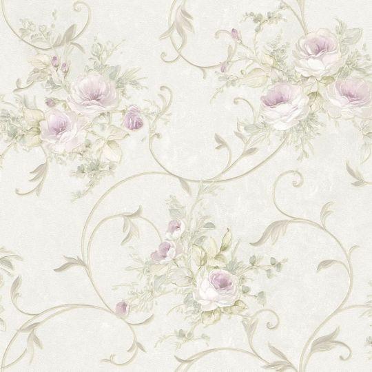 Шпалери AS Creation Romantico 30420-2 ремус і квіти бежеві