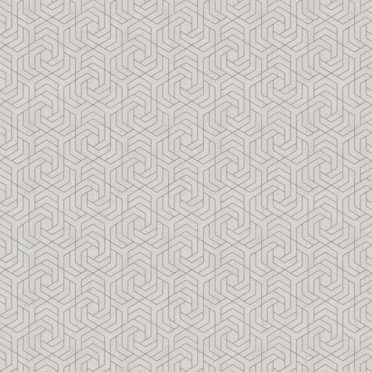 Шпалери Marburg City Glam 32308 з золотим геометричним візерунком на бежевому