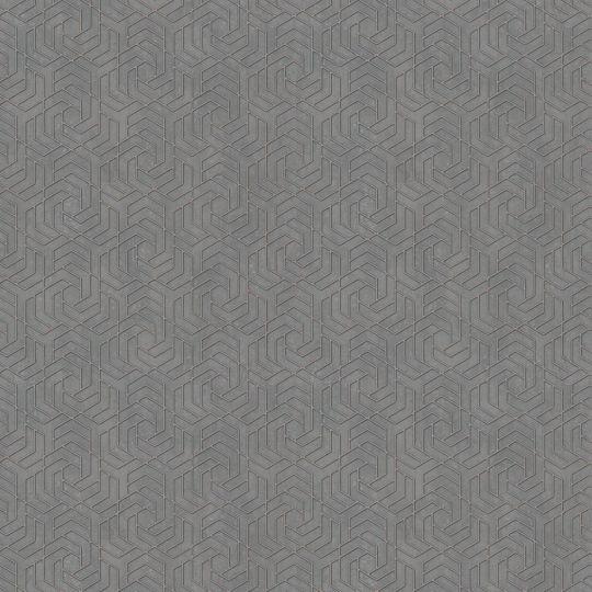 Шпалери Marburg City Glam 32309 з геометричним візерунком графітові