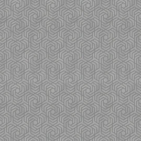 Шпалери Marburg City Glam 32310 з геометричним візерунком сірі