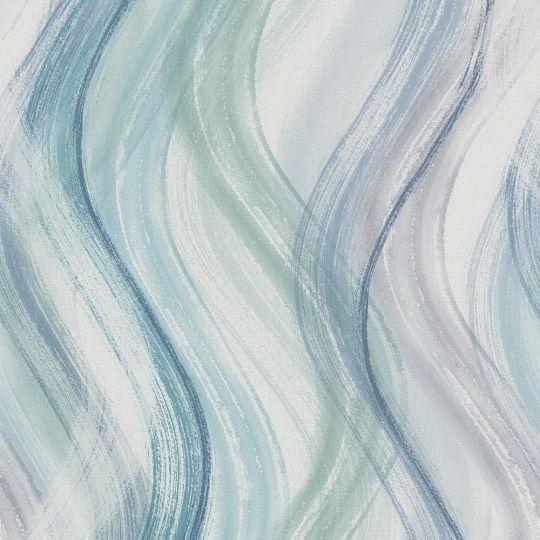 Обои Marburg Shades 32444 волнистая абстакция сине-зеленая