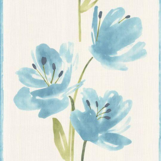 Обои AS Creation Esprit 8 3314-10 голубые цветы