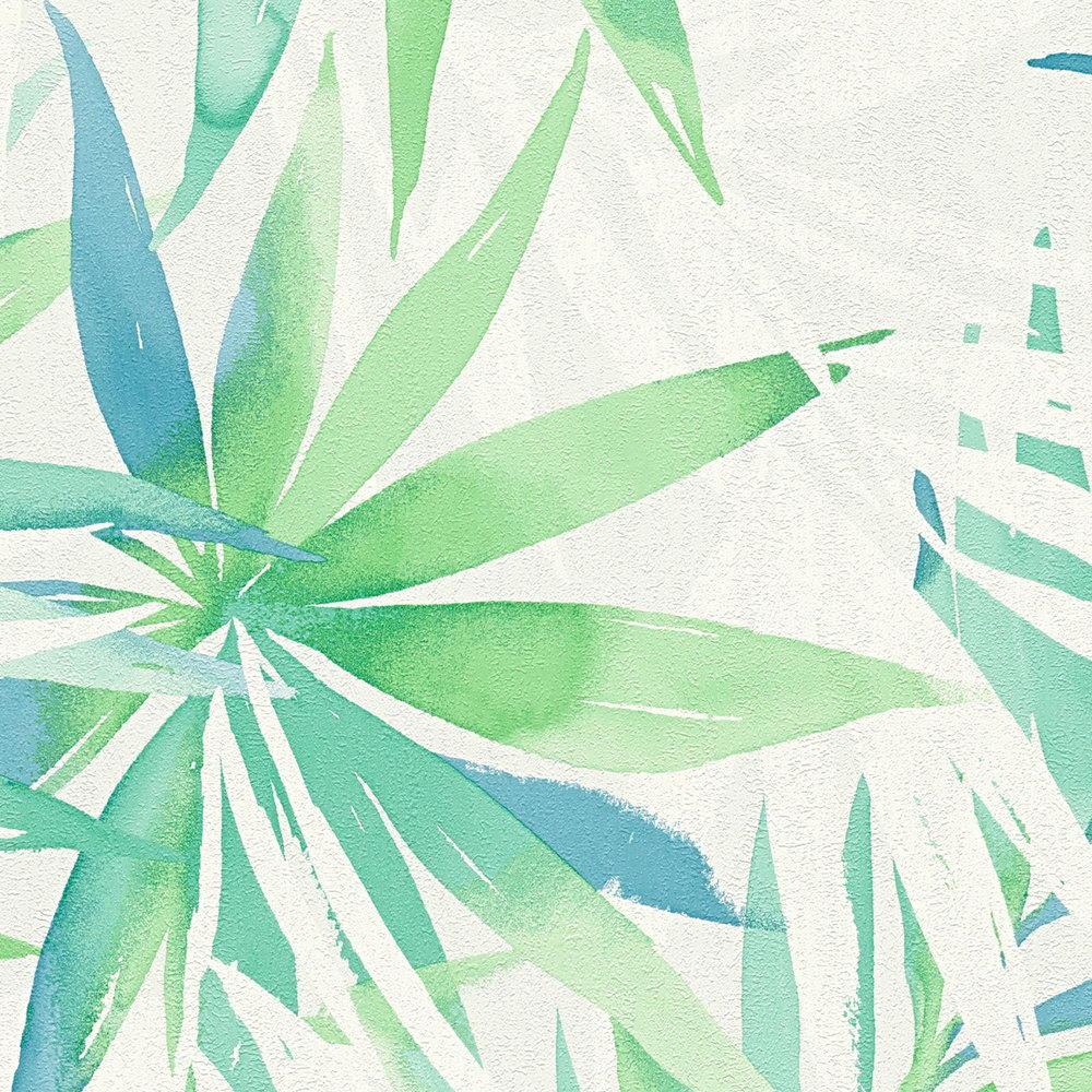 Шпалери AS Creation Designdschunge 34125-1 зелені листя 0,53 х 10,05 м