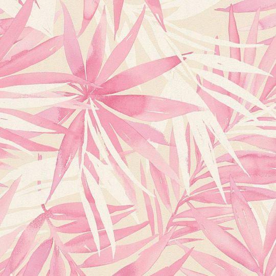 Обои AS Creation Designdschunge 34125-3 розовые листья 0,53 х 10,05 м