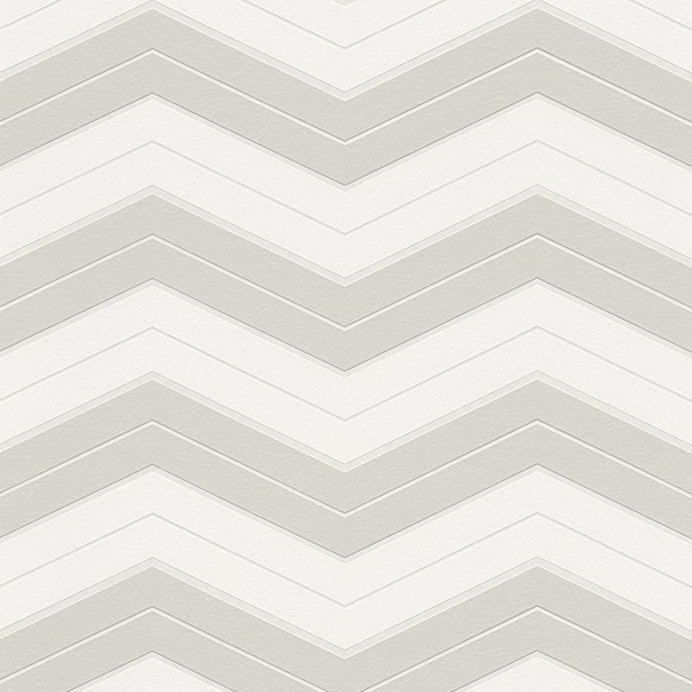 Шпалери AS Creation Designdschunge 34242-1 зігзаг біло-сірий 0,53 х 10,05 м