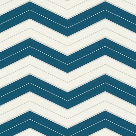 Шпалери AS Creation Designdschunge 34242-4 зігзаг біло-синій 0,53 х 10,05 м