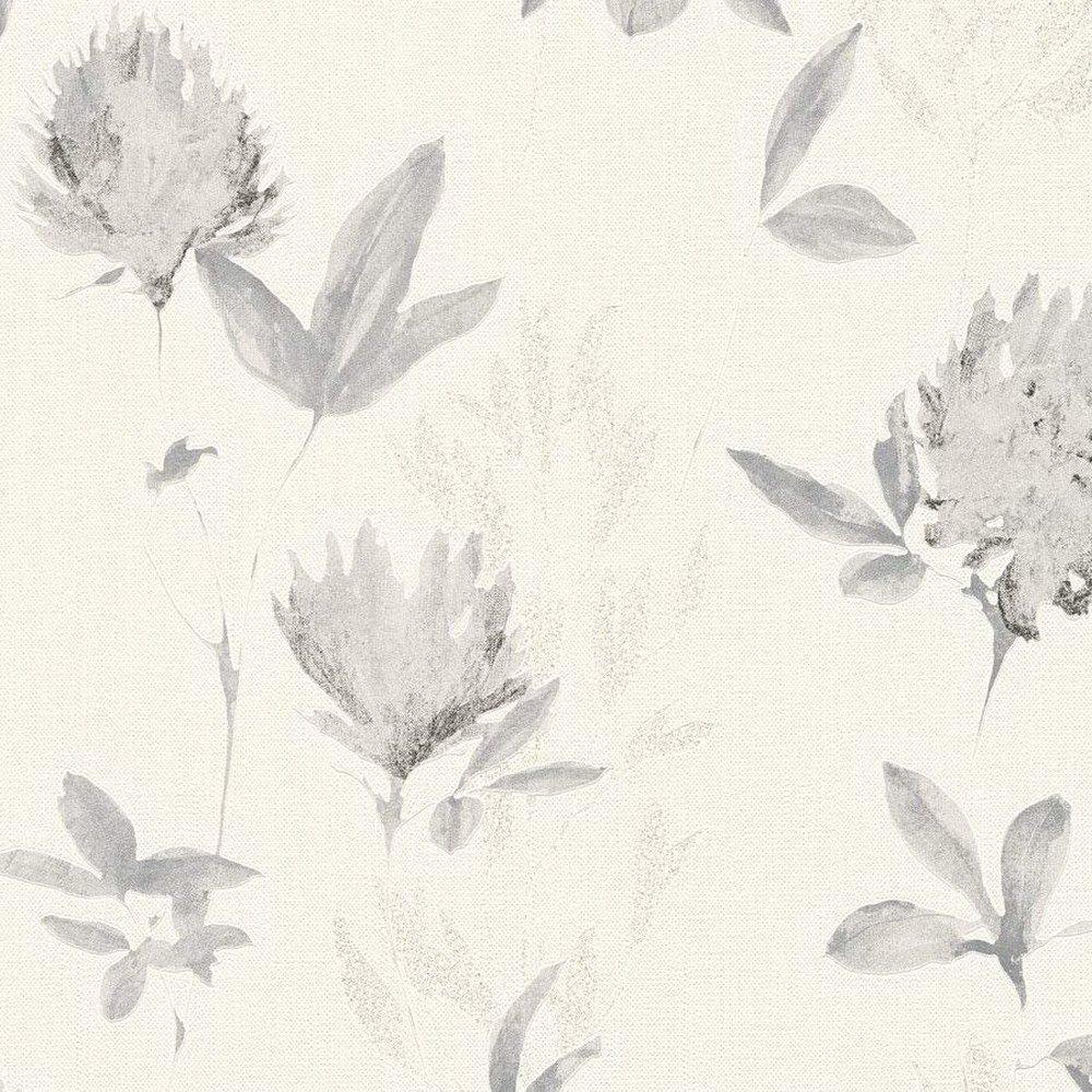 Шпалери AS Creation Designdschunge 34498-1 сірі квіти 0,53 х 10,05 м