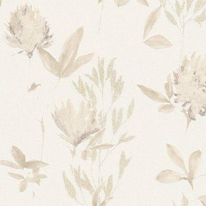 Шпалери AS Creation Designdschunge 34498-2 бежеві квіти 0,53 х 10,05 м