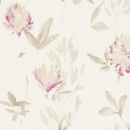 Обои AS Creation Designdschunge 34498-3 бежево-розовые цветы 0,53 х 10,05 м