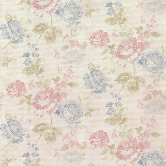 Обои AS Creation Graze 34773-1 розовые и синие розы 1,06 х 10,05 м