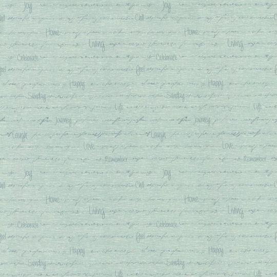 Обои AS Creation Cote d'Azur 35187-3 надписи на голубом 0,53 х 10,05 м