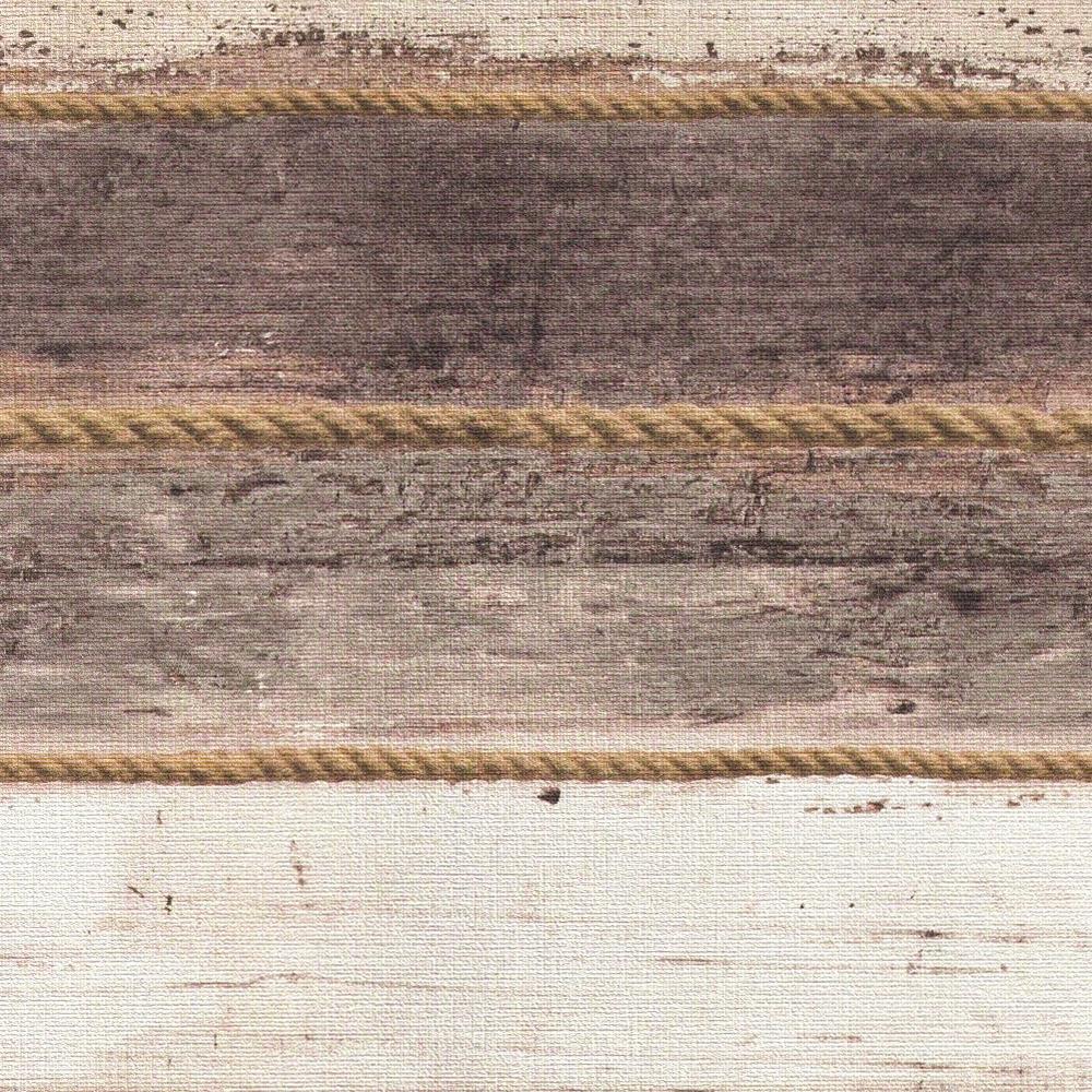 Шпалери AS Creation Cote d'Azur 35340-4 канати і бежево-коричневі дошки 0,53 х 10,05 м