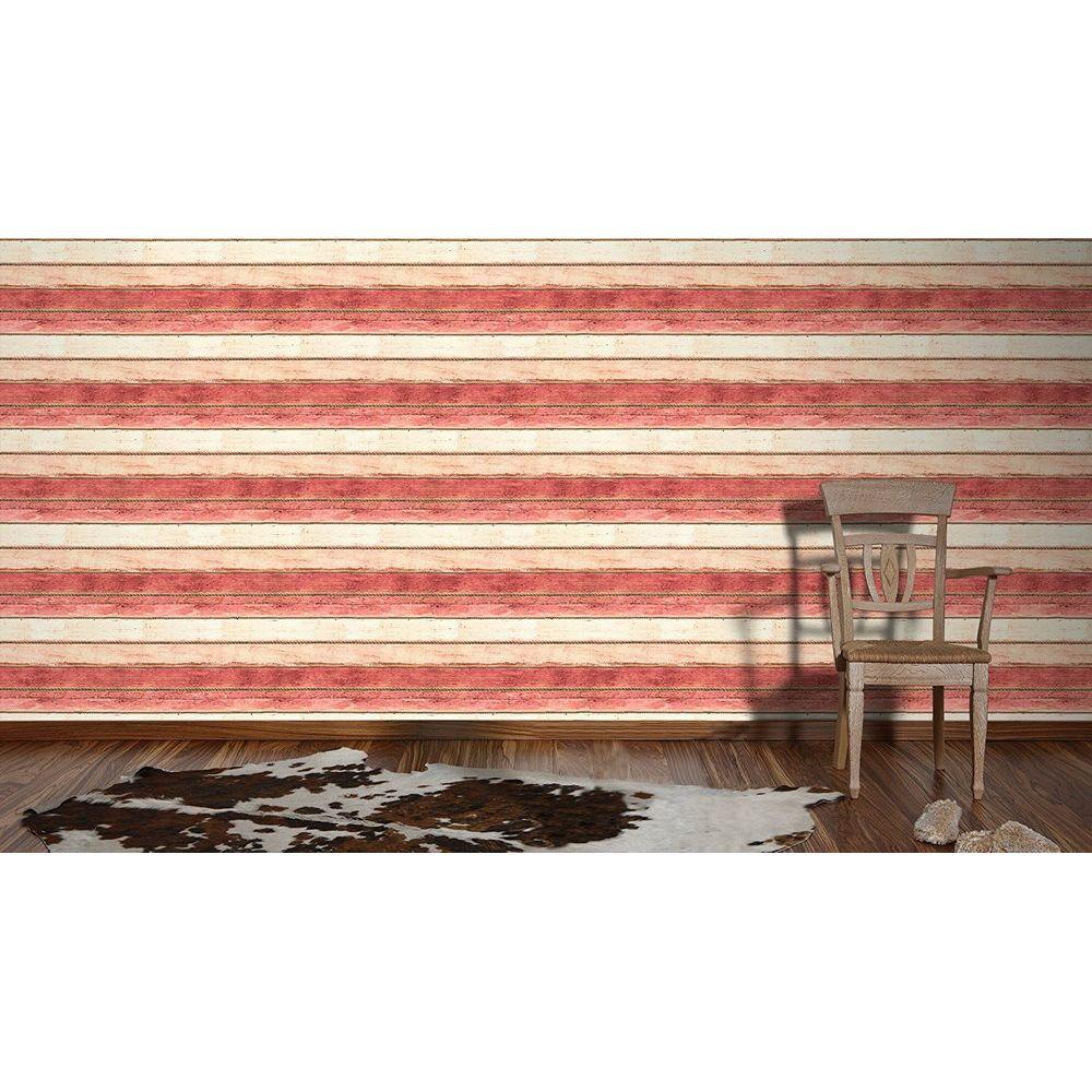 Обои AS Creation Cote d'Azur 35340-5 канаты и розово-красные доски 0,53 х 10,05 м