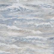 Шпалери AS Creation Cote d'Azur 35409-2 хвилі синє-коричневі 0,53 х 10,05 м