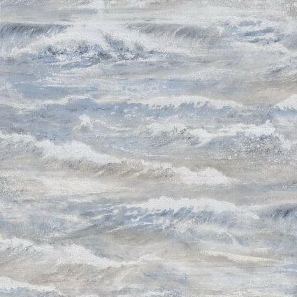 Обои AS Creation Cote d'Azur 35409-2 волны сине-коричневые 0,53 х 10,05 м