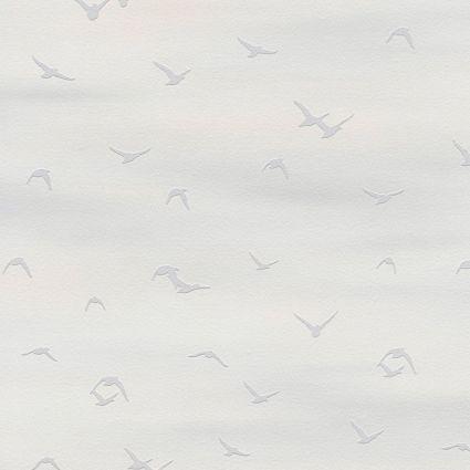 Обои AS Creation Cote d'Azur 35410-1 чайки фон бело-серый 0,53 х 10,05 м