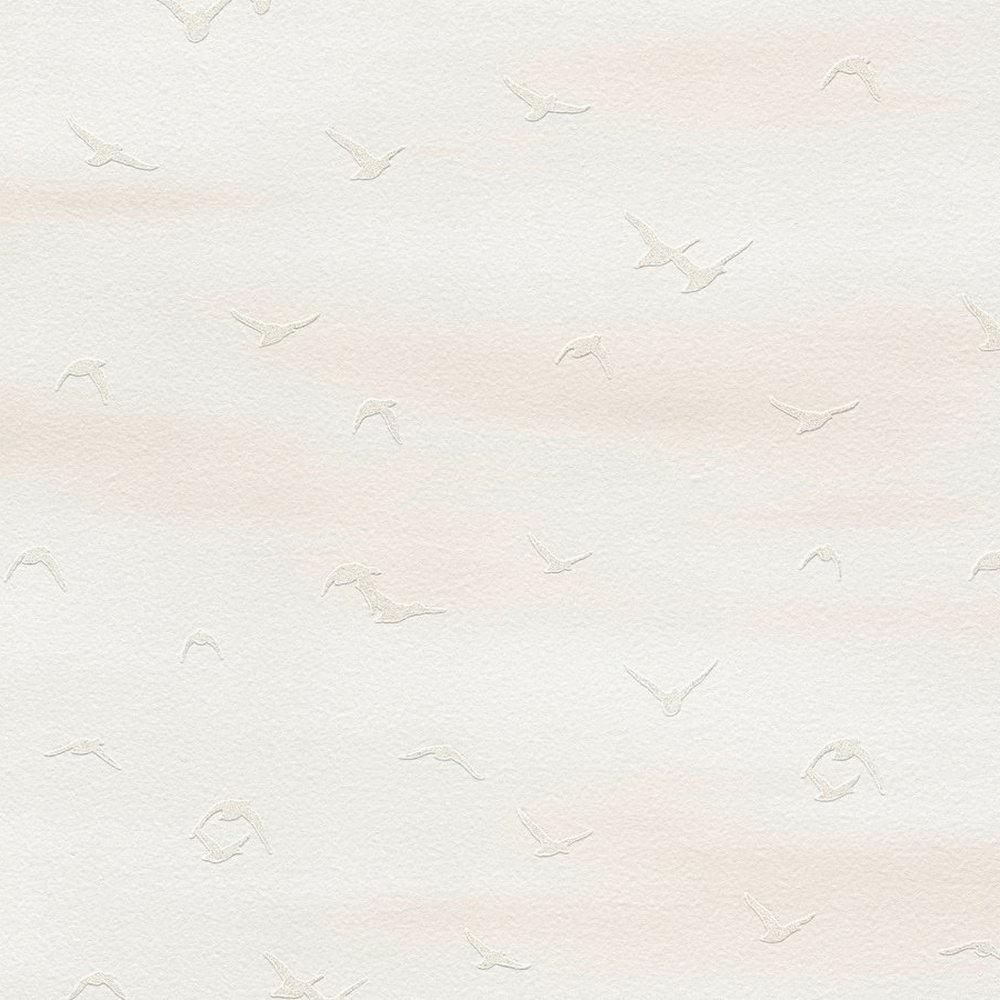 Шпалери AS Creation Cote d'Azur 35410-2 чайки фон біло-бежевий 0,53 х 10,05 м