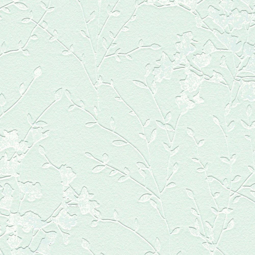 Обои AS Creation Designdschunge 36082-1 куст на мятном фоне 0,53 х 10,05 м
